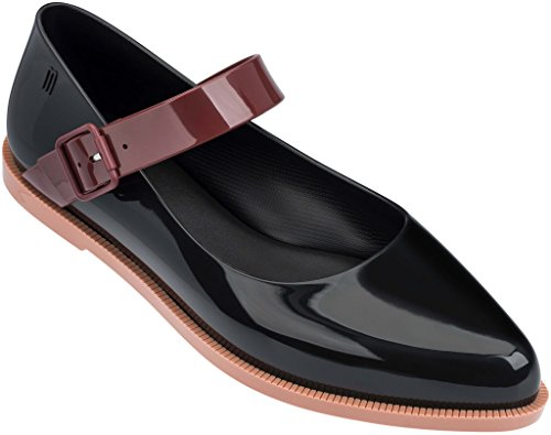 Womens Jane Melissa Mary Brown Flat Bordeaux Black SqAwEBd4wx