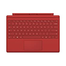 Microsoft Surface Pro 4 Type Cover Bright Red (English)