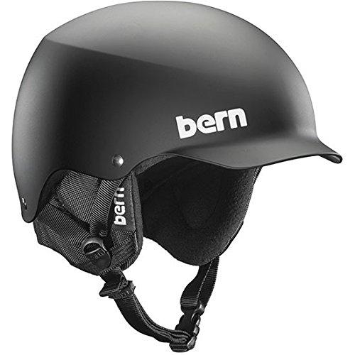 Bern Baker EPS Visor Thin Shell Helmet Matte Black, (Bern Baker Matte)