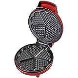 Kalorik Red Metallic Heart Shape Waffle Maker