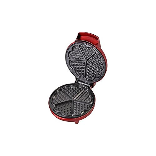 Kalorik Heart-Shaped Waffle Maker, Red