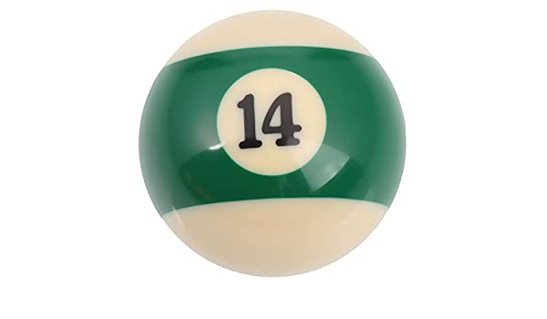 Mzamzi Gran valor bolas de billar número 14 billar bola: Amazon.es: Deportes y aire libre