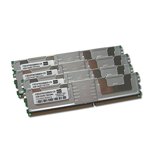 - 16GB Kit (4x4GB) DDR2 Fully Buffered (FB-DIMM) PC2-6400 800MHz Memory RAM for Early 2008 Apple Xserve (Mac Model ID: Xserve2,1)
