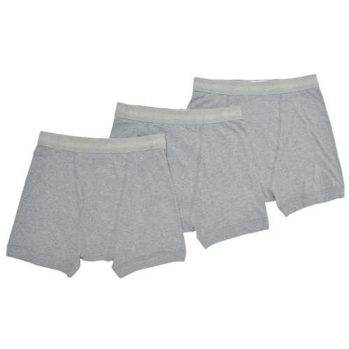 Calvin Klein Men's 3 Pack Boxer Brief, Heather Grey, Large