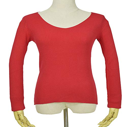 Shirloy Core Yarn Bottoming Warm Sweater Femminile Dolce Temperamento Slim Slim Sweater, Red, Grande