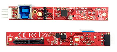 Ableconn IUSB3SAOD SATA Slimline Optical Drive (ODD) to USB 3.0 Type-B (F) Mini Vertical Adapter Board - Convert a Slim SATA Optical Drive to a USB 3.0 ODD Drive by Ableconn