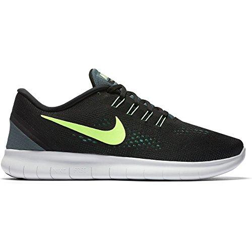 Nike Mens Free Rn Running Shoes Black/Hasta/Green Glow/Ghost Green 12 (Green Nike Running Shoes)
