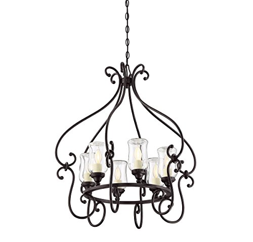Cheap Savoy House 1-1110-6-13 Weston 6-Light Outdoor Chandelier in English Bronze Finish