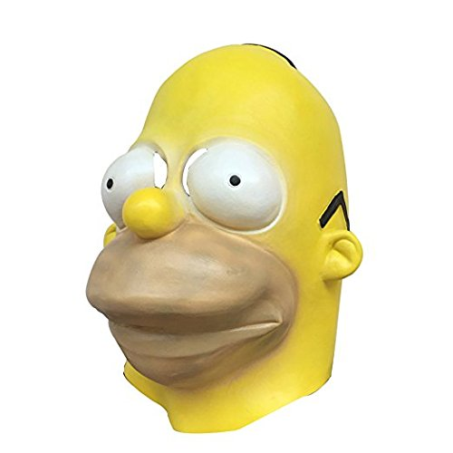 Men's Homer Simpsons Adult Costume Mask
