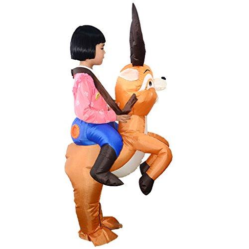 Baoblaze Kids Children Elk Deer Inflatable Costume Funny Costumes For Kids