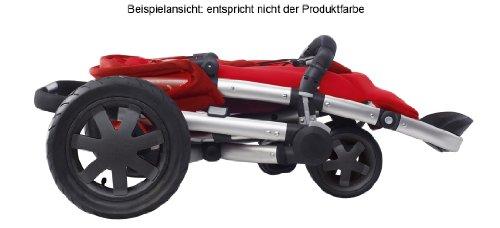 Buzz 3 - Silla de paseo con cesta, capota, protector para la lluvia y adaptador para capazo Quinny Dreami o MaxiCosi (3 ruedas), armazón y asiento color ...