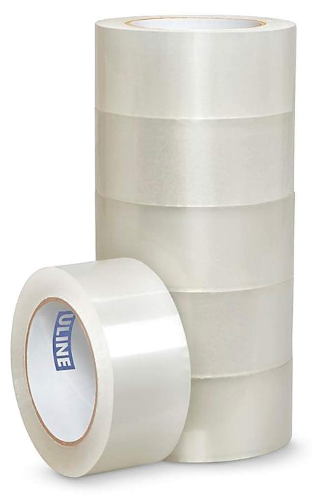 Clear Pack of 36 ULINE S-16982 Carton Sealing Tape 2 Width 110 yds Length 2.6 Mil