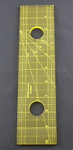 Stitch Ruler (DreamStitch 5mm Acrylic Patchwork Quilting Template Ruler Straight Lines for Long Arm High Shank Machine and For Free motion 1/4