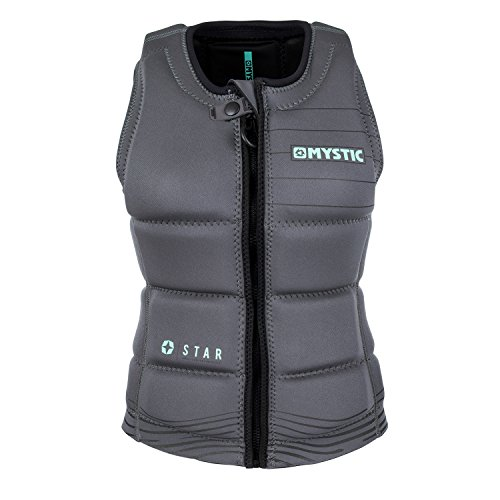 Mystic 2018 Star Womens Front Zip Wake Impact Vest Black 180156 Sizes- - ()