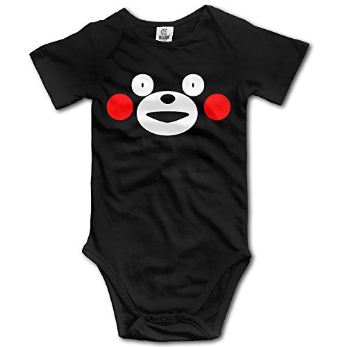 DHome Cute Bear Short-sleeve Newborn High Quality Jumpsuit Bodysuit Outfits Clothes Black 12 Months]()