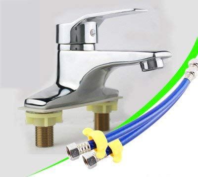 K) Oudan Basin Mixer Tap Bathroom Sink Faucet 2-hole basin cold water tap two holes,H (color   R)