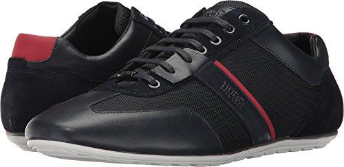 Hugo Boss Boss Uomo Vita Bassa Sneaker Da Capo Verde Blu Scuro