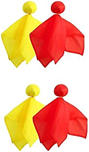 DARKWA 4 Pieces Football Penalty Flag Football Challenge Flags Tossing Football Referee Flag for Party Accesso