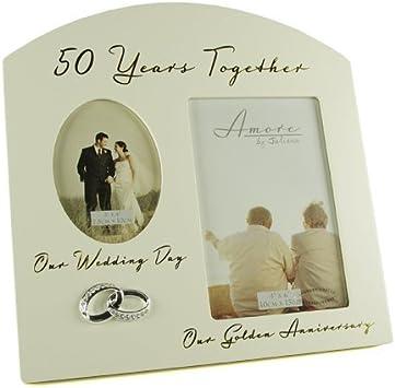 Marco de fotos con motivo del 50º aniversario de bodas