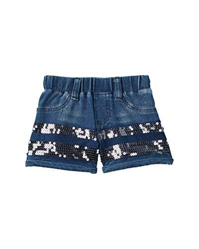 - Flapdoodles Girls Sequin Short, 4, Blue