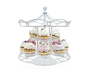 Godinger Carousel Cupcake White