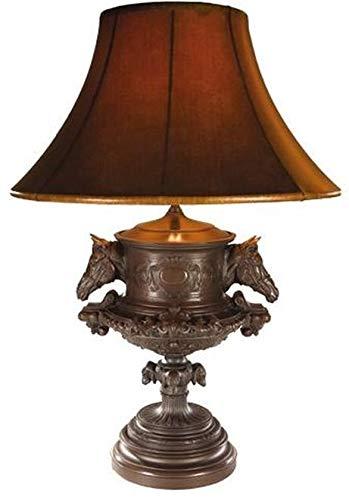 EuroLuxHome Sculpture Table Lamp Equestrian Traditional Antique Horse Head Urn 1-Ligh ()