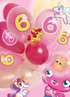 Moshi Monsters Tarjeta de felicitación sexto cumpleaños 3D ...