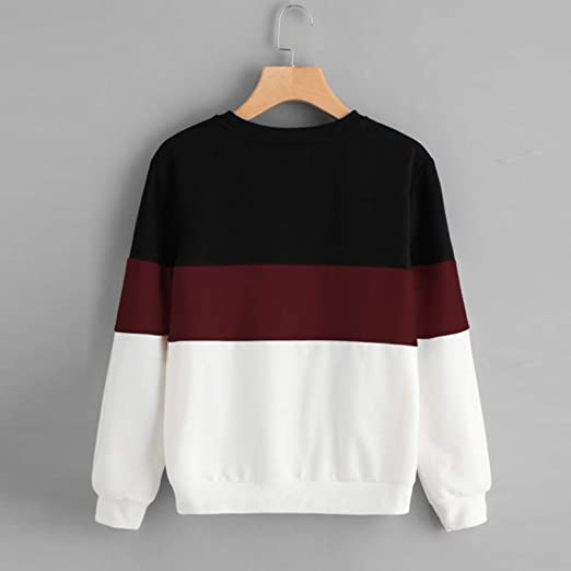 Amazon.com - Most Wished!!! Teresamoon Womens Long Sleeve Cut Sew Pullover Stripe Hoodie Print Sweatshirt Blouse Top - China Cabinets