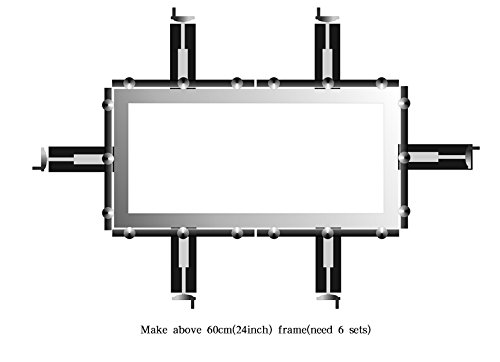 Fast Clip Manual Stretcher Screen Printing Plate Making Tool for Silk Screen Printing 60cm/×60cm 24inches/×24inches