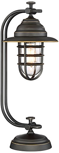Lamps Lamp Plus Table Rustic (Franklin Iron Works Knox Oil-Rubbed Bronze Lantern Desk Lamp)