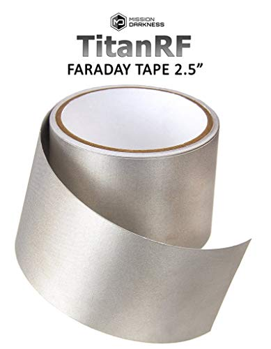 TitanRF Faraday Tape - High-Shielding Conductive Adhesive Tape // Used to Connect TitanRF Fabric Sheets or Seal RF Enclosures (2.5