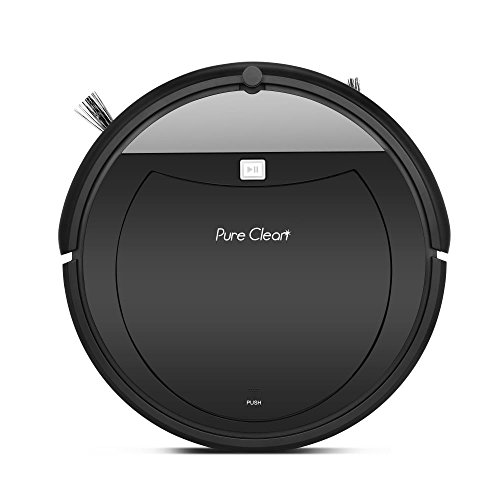 PureClean Robot Vacuum Cleaner with Programmable Scheduled Activation & Automatic Charge Dock - Robotic Auto Home Cleaning for Clean Carpet Hardwood Floor, HEPA Pet Hair & Allergies Friendly - PUCRC99 by PureClean