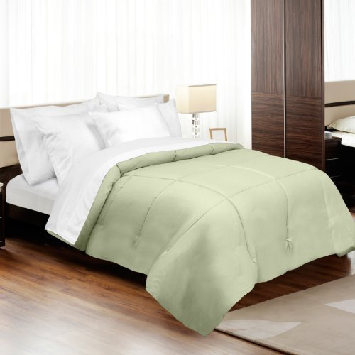 MADE IN THE USA 500TC 100% Cotton Sateen Down Alternative Comforter, Full, Sage By Veratex by Veratex by Veratex (Image #1)