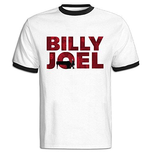 TAEYANG Men's Bonnaroo 2016 Billy Joel Soft T-shirt Black