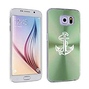 Samsung Galaxy S6 Edge Aluminum Plated Hard Back Case Cover Anchor with Rope (Green)