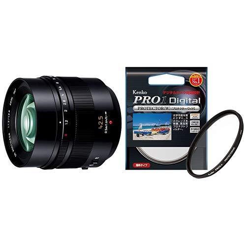 パナソニック 単焦点 中望遠レンズ マイクロフォーサーズ用 ライカ DG NOCTICRON 42.5mm/F1.2 ASPH./POWER O.I.S. H-NS043 + Kenko レンズプロテクター セット   B07PK97W8F