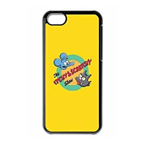 Itchy And Scratchy iPhone 5c Cell Phone Case Black Exquisite gift (SA_433115)