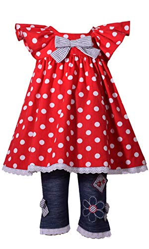 Bonnie Jean Baby Girls Red Polka Dot Flutter Sleeve 2 Pc Pant Outfit 12M