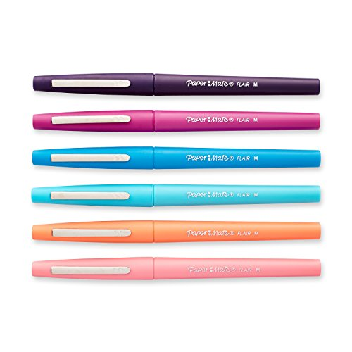 paper mate flair pens Fact: dull, smudgy ink is a downer so boost your writing fun-factor with paper  mate flair felt tip pens with bright colors and smear-resistant, no-bleed ink,.