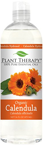 Plant Therapy Organic Calendula Hydrosol. (Flower Water, Floral Water, Hydrolats, Distillates) Bi-Product of Essential Oils. 16 Ounce.