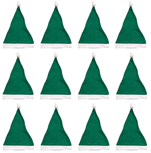 Green Santa Hats Bulk Adult Kids 12 Pack Great Christmas Hat For The Holidays Bulk Wholesale -