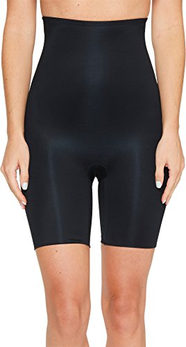 SPANX Women's Power Conceal-Her High-Waisted Mid-Thigh Short Very Black Medium