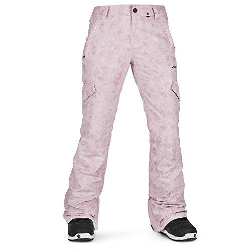 - Volcom Women's Bridger Insulated Snowpant, Pink, Large