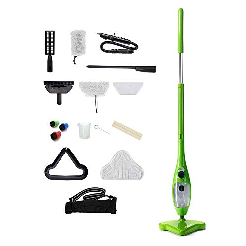 H2O Mop Unknown X5 Elite-8 in 1 Mop for Floors, Carpets, Hand-Held, Window, Mirror and Glass Cleaner and Garment All in One, Steam, red