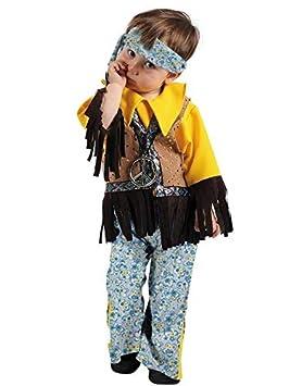 d829712c5 DISBACANAL Disfraz Hippie Bebe niño - Único, 4 años: Amazon.es ...