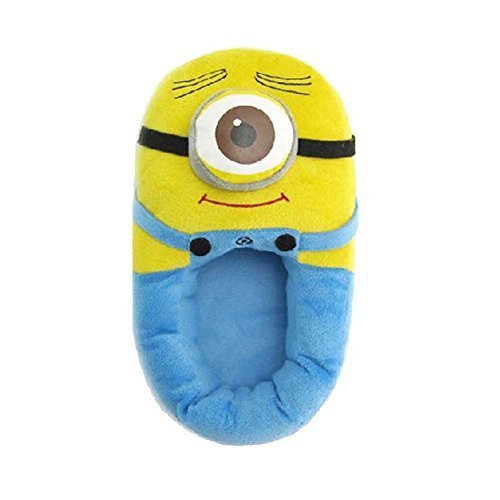 Win8Fong Despicable Me Plush Soft Minion shoes Slippers Stewart Oneeyed Minion 11 by Win8Fong