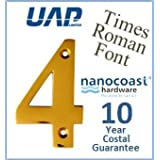 3 Times Roman Door Numeral - Number 4 - PVD Gold (Made from Stainless Steel) - Perfect for the Coast by UAP