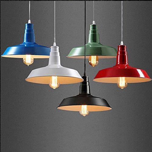 FidgetGear 26/36cm Industrial Loft Pendant Light Chandelier Lid-Shape Aluminum Ceiling Lamp White 36cm by FidgetGear (Image #3)