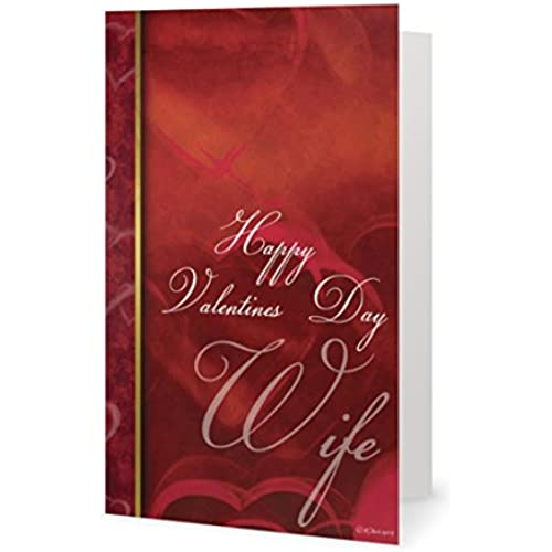 Valentines Day Lover Spouse Beautiful Heart Wife Greeting Card (5x7) by QuickieCards. Always Fast FREE Shipping Sales