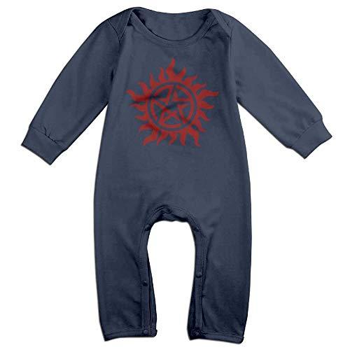 TYLER DEAN Newborn Baby Long Sleeve Jumpsuit Supernatural Baby Clothes -